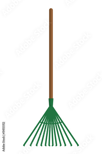 Cuadros en Lienzo Rake  icon. Gardening design. Vector graphic