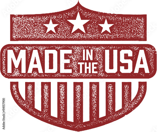 Photographie  Made in the USA Stamp Shield