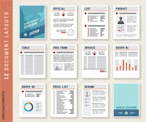 Valokuva  Document Report Layout Templates Mockup Set