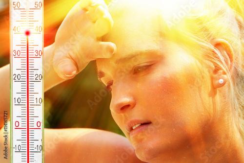 Fotografie, Obraz  Was für eine Hitze
