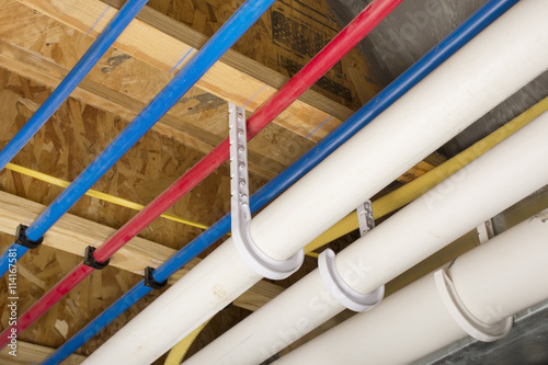 Photo PEX and drain pipes