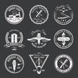 White Barber Emblem Set