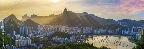 Photo Stands Brazil Panoramic view of Rio De Janeiro, Brazil landscape