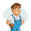 Plumbing service. Plumber cartoon design. vector graphic