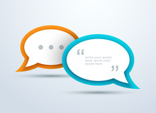 Speech Bubbles Overlapping Wit...