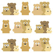 Vector pattern with bears. Vector illustration