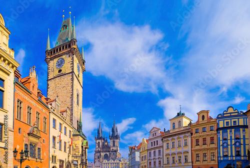 Poster Prague Place de la vieille ville, Prague