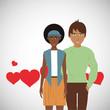 Love design. Romantic icon. Colorfull illustration, vector graph