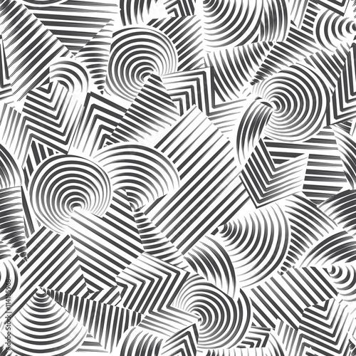 Obraz na płótnie Abstract seamless pattern of geometric shapes Ornamental modern background