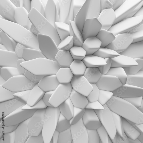 Fototapety, obrazy: White abstract hexagons backdrop. 3d rendering geometric polygons