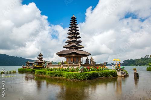Tuinposter Bali Pura Ulun Danu temple on a lake Beratan. Bali ,Indonesia
