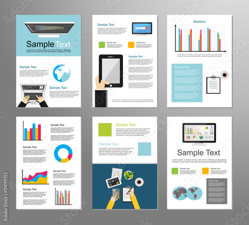 Information Technology Or Business Infographic Elements It