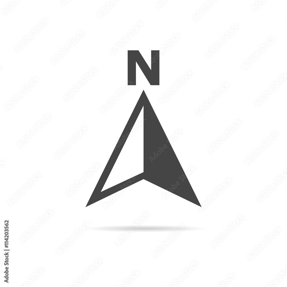 Fototapety, obrazy: Vector north direction compass icon