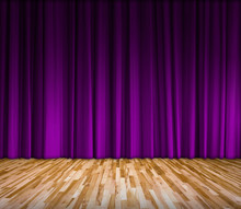 Background With Purple Curtain...
