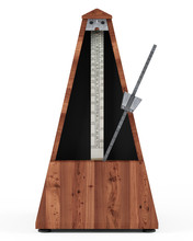 Retro Metronome Isolated On Wh...