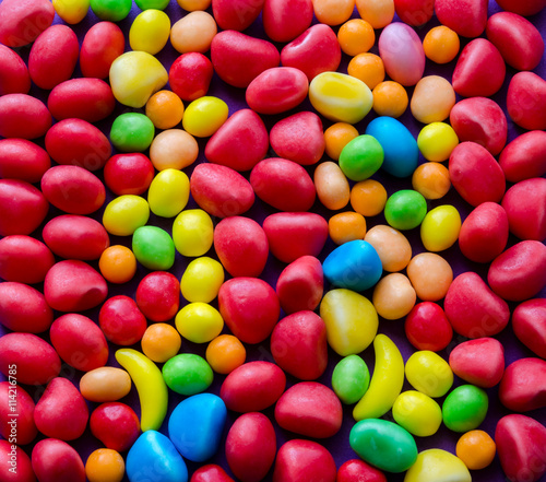 obraz dibond Close-up of bright colorful candies