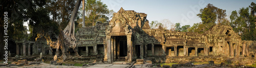 Mysterious Preah Khan temple in Angkor, Siem Reap, Cambodia. Wallpaper Mural