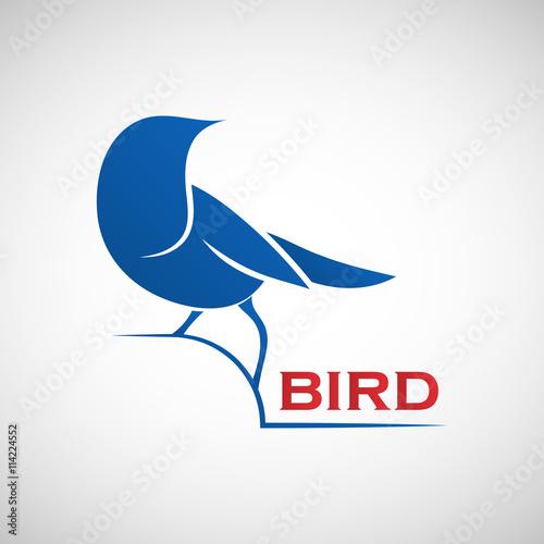 Photo  Bird logo template