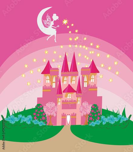 Plakat Magiczny bajkowy zamek księżniczki