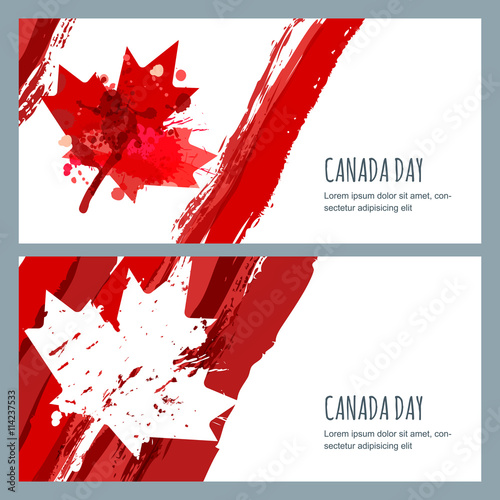 Vector watercolor banners and backgrounds 1st of july happy canada vector watercolor banners and backgrounds 1st of july happy canada day watercolor hand m4hsunfo