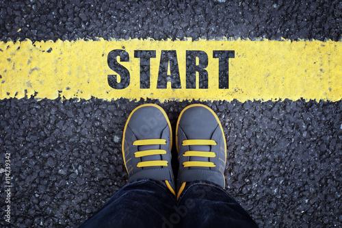 Vászonkép  Start line
