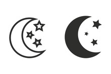 Moon Star - Vector Icon.