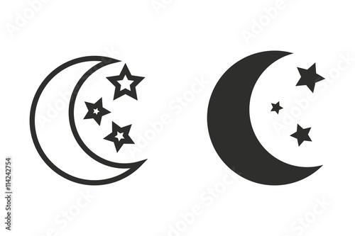 Fotografia Moon star - vector icon.