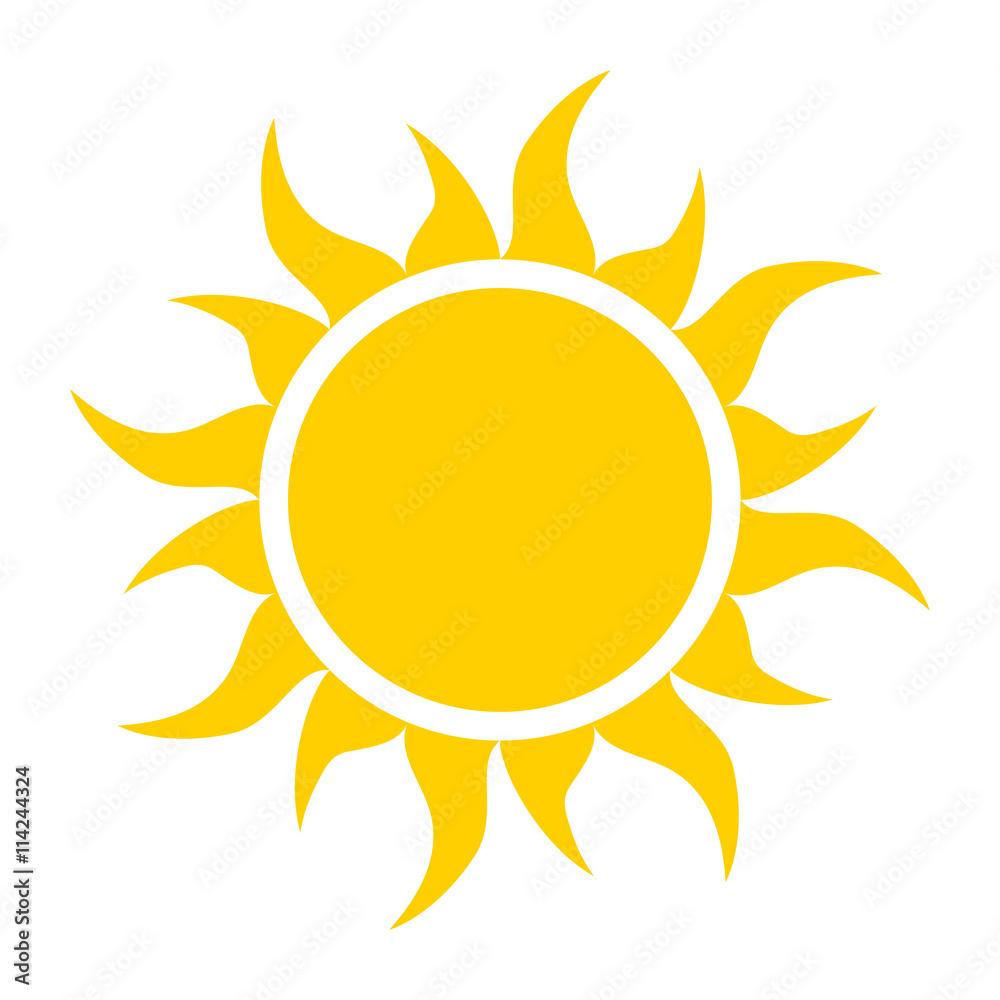 Fototapety, obrazy: yellow sun icon