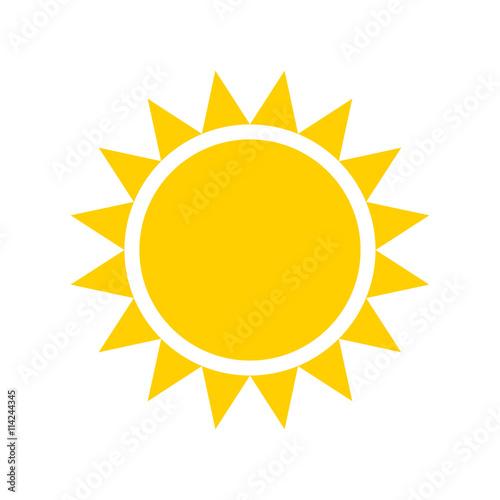 yellow sun icon