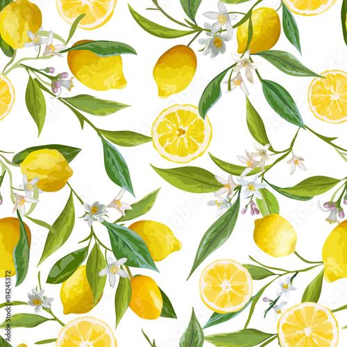 Fototapeta wzór w cytryny
