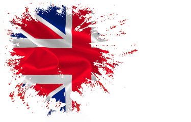 Part of The flag of Great Britain on the white background