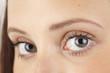 canvas print picture - Close up blaugraue Augen einer jungen Frau