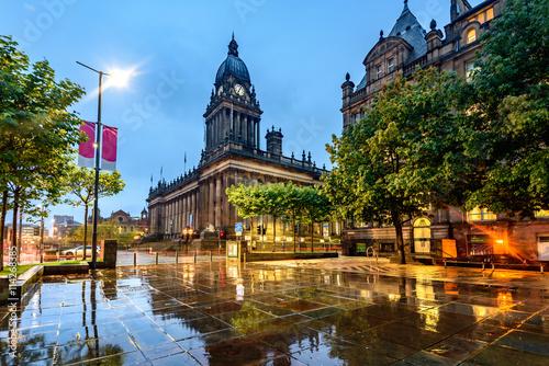 Fotografie, Obraz  Leeds Town Hall, Leeds West Yorkshire,England