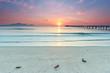 Sonnenaufgang am Strand, Beginn eines Sommertages