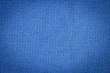 Closeup Blue Microfiber Cloth And Blue Microfiber Texture From Microfiber Towel For Background And Design With Copy Space For Text Or Image. Dark Edged.