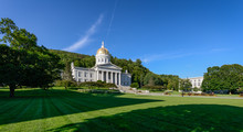 Panoramic View Of The Vermont State House In Montpelier, Vermont