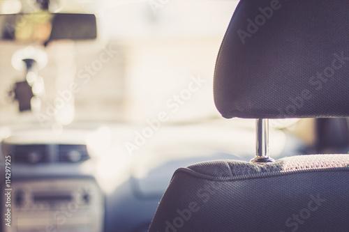 Fotografie, Obraz  Kopfstützen in Auto, retro