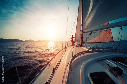 Fotografia  Man on the yacht