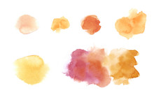 Watercolour Bolb Spot In Circle Texture For Usage Illustration