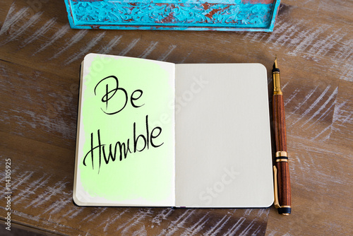Photo  Handwritten Text Be Humble