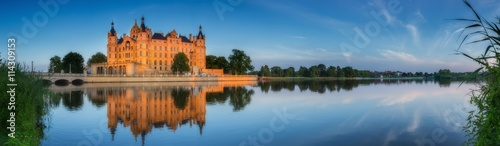 Plakat Panorama zamku w Schwerinie