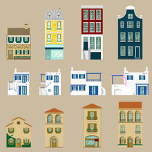 Houses Collection,Europe House,vector,illustration