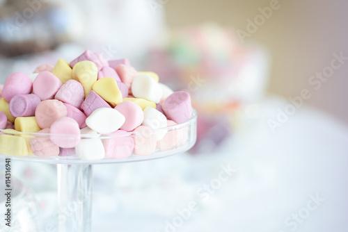 Foto auf AluDibond Süßigkeiten Marshmallow