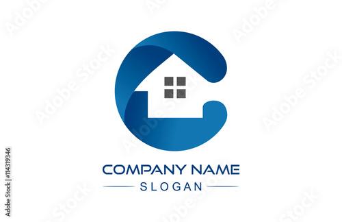 Letter C construction logo