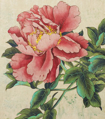 Fototapeta Style bright and delicate peony