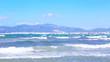 Sea waves at the beach