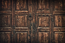 Background Old Wooden Gate Wit...