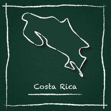 Costa Rica Outline Vector Map ...