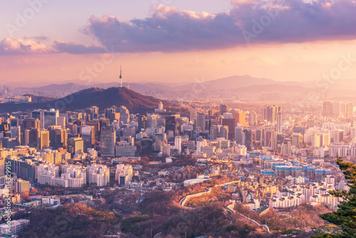 Photo sur Aluminium Seoul Seoul City Skyline, The best view of South Korea