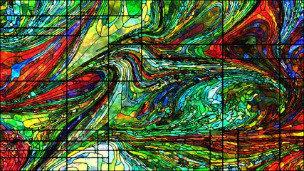 Fototapeta Witraże świeckie Virtual Stained Glass